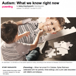 autism-what we know right now