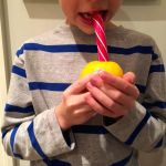 lemons with candy cane stick