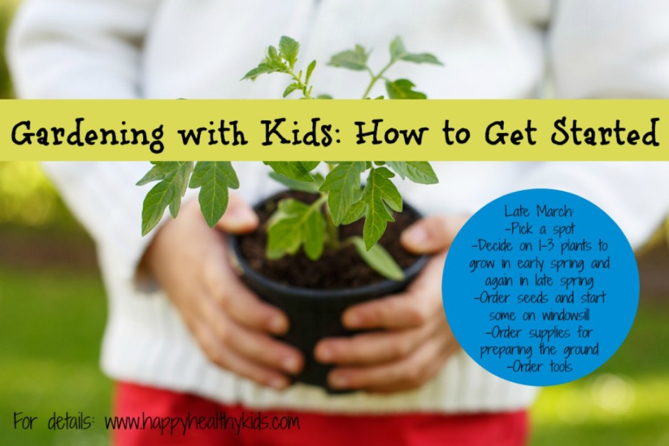 how to start a garden with kids