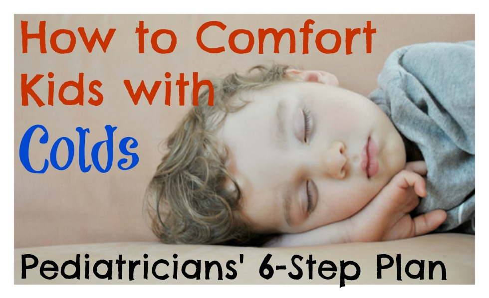 how to comfort kids with colds