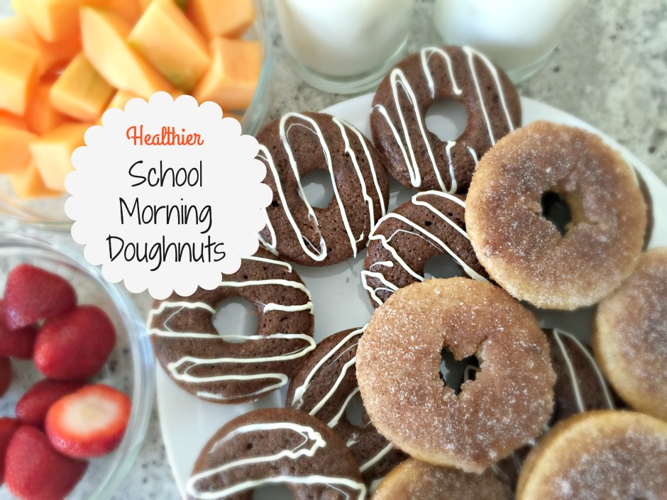 healthier school morning doughnuts